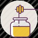 bee, food, honey, jar, pot, recipient, sweet icon
