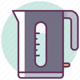 appliances, boiling, electric kettle, kettle, kitchen, tea, water icon