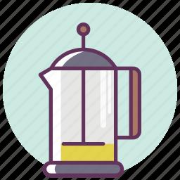 coffee, coffeepot, frenchpress, kettle, pot, tea, teapot icon