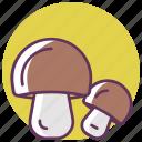 autumn, cooking, eating, food, mushroom, mushrooms, vegetable icon