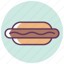 dog, food, frank, frankfurter, hot, hotdog, sausage icon