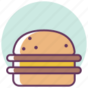 beef, burger, cheeseburger, fast, food, hamburger, sandwich icon