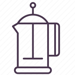 coffee, coffeepot, frenchpress, kettle, pot, tea, teapot icon