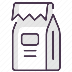bag, coffee, dessert, package, paper, spice, tea icon