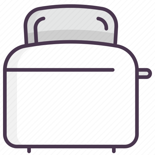 breakfast, cooking, electronics, household, kitchen machinery, toaster icon