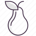 breakfast, cooking, food, fruit, kitchen, pear icon