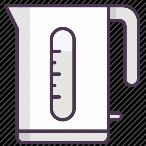 appliances, boiling, electric kettle, kettle, kitchen, tea, water icon