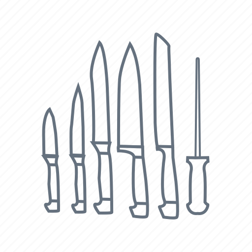 cafe, cut, icebreaker, kitchen, knife, knives, restaurant icon