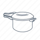 boil, cook, double boiler, kitchen, pan, steamer icon