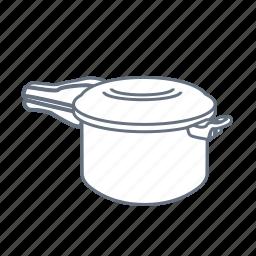 boil, cook, double boiler, kitchen, pan, steamer icon