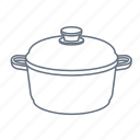 boil, cook, kitchen, pan, restaurant, saucepan, stewpan icon