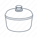 cook, cooking, kitchen, pan, restaurant, saucepan, stewpan icon