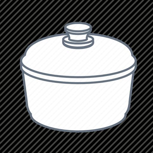 cook, cooking, kitchen, pan, restaurant, saucepan, stewpan icon