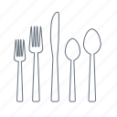 cafe, dinner, eat, forks, knife, restaurant, spoons icon