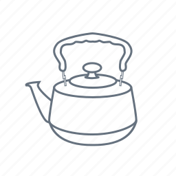 boil, drink, kettle, kitchen, pot, restaurant, teakettle icon
