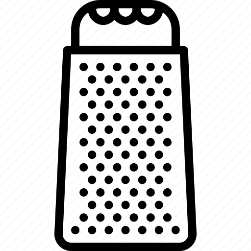 cheese, grater, kitchen, objects, outline, utility icon