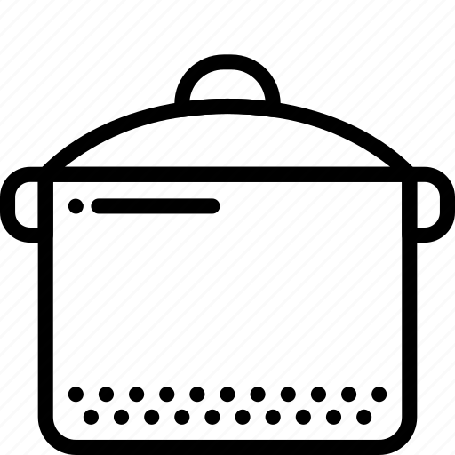 cooker, kitchen, objects, outline, slow icon