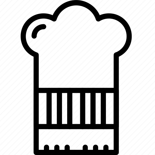 chefs, hat, kitchen, objects, outline icon
