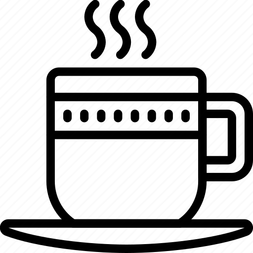 coffee, cup, kitchen, objects, outline, tea icon