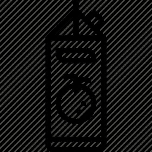 juice, kitchen, objects, orange, outline icon