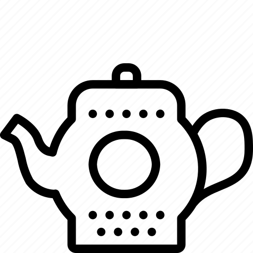 drink, kitchen, objects, outline, pot, tea, teapot icon