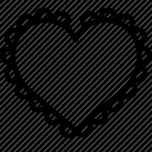 baking, biscuit, cookie, cuttter, heart, kitchen, utility icon