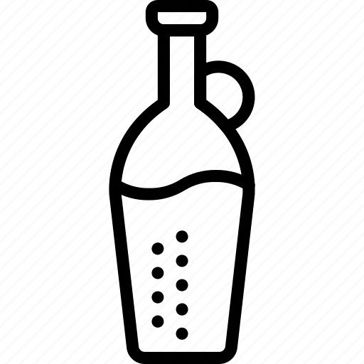 bottle, juice, kitchen, objects, outline icon