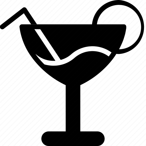 cocktail, glass, kitchen, objects, solid icon