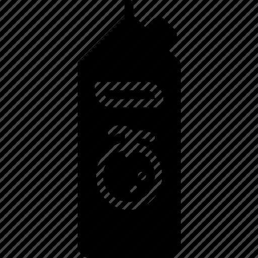 carton, juice, kitchen, objects, orange, solid icon