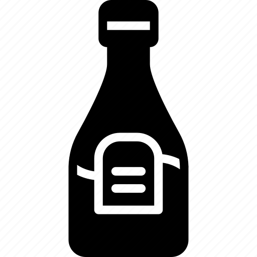 bottle, condiments, kitchen, objects, sauce, solid icon