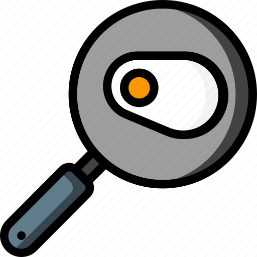 egg, fried, frying, kitchen, objects, pan, ultra icon