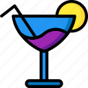 cocktail, glass, kitchen, objects, ultra icon