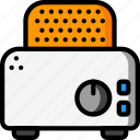 kitchen, objects, toaster, ultra, utility icon