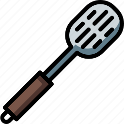 kitchen, objects, slotted, spoon, ultra icon
