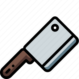 cleaver, kitchen, meat, objects, ultra icon
