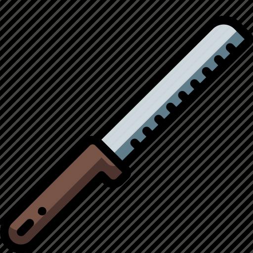 bread, kitchen, knife, objects, ultra icon