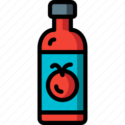 condiments, ketchup, kitchen, objects, tomato, ultra icon