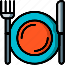 plate, dinner, objects, ultra, setting, kitchen icon