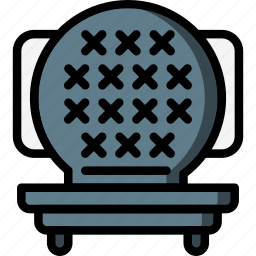 grill, kitchen, objects, ultra, waffle icon