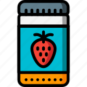 food, jam, jar, kitchen, objects, strawberry, ultra icon