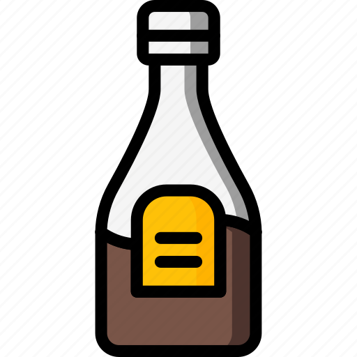 bottle, condiments, kitchen, objects, sauce, ultra icon