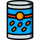 beans, can, kitchen, objects, of, tin, ultra icon
