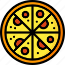 food, kitchen, objects, ultra, tray, pizza icon