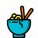 bowl, food, kitchen, noodles, objects, ultra icon