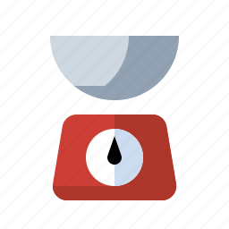 food, grams, kitchen, measure, portion, scale, weight icon