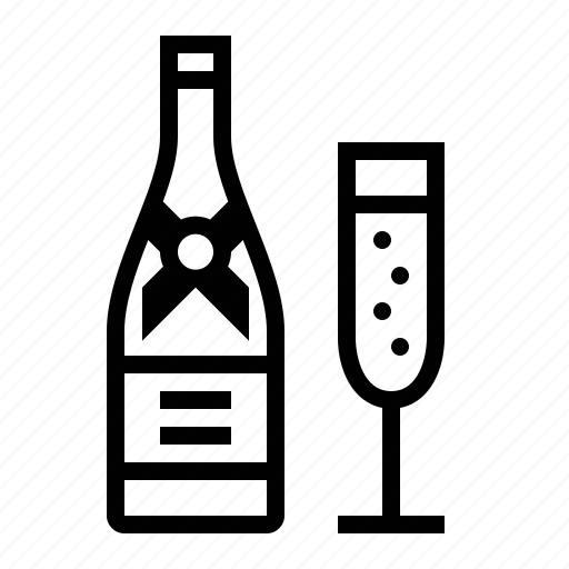 alcohol, booze, bottle, celebrate, champagne, glass, toast icon