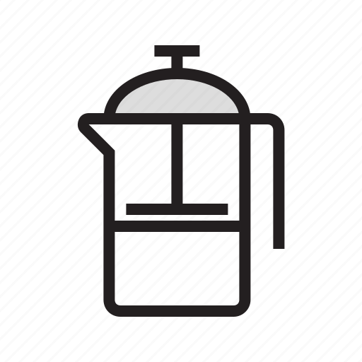 drink, filled, food, french, kitchen, press, utensil icon