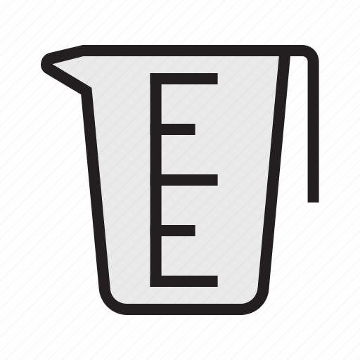 cup, filled, food, kitchen, measuring, scale, utensil icon