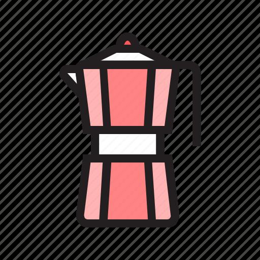coffee, filled, food, kitchen, moka, pot, utensil icon