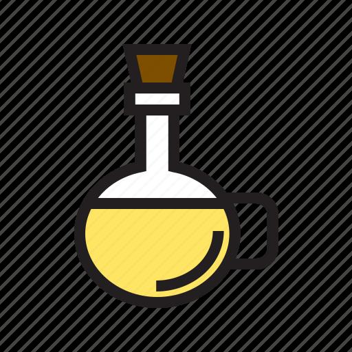 bottle, filled, food, kitchen, oil, olive, utensil icon
